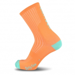 Compress - Coral/Mint - Cycling socks - 17 cm