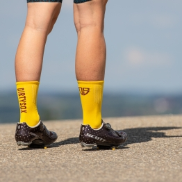Compress - Honey/Bordeaux - Cycling socks - 17 cm