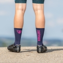 Compress - Navy/Neon Pink - Cycling socks - 17 cm