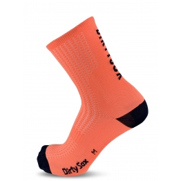 Compress - Orange Fluo/Navy - Cycling socks - 17 cm