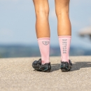 Compress - Pink/Gray - Cycling socks - 17 cm
