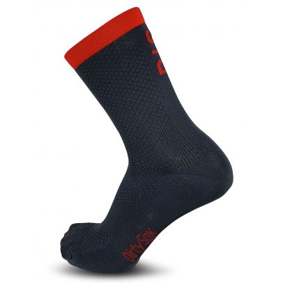 Dig Deep -  Anthracite/Red - Premium Cycling Socks - 20cm