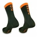 Dig Deep - Khaki/Neon Orange - Premium Cycling Socks - 20cm