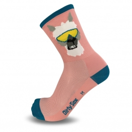 Lama - Pink - Cycling socks - 15 cm