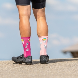 Huggermugger - Cycling socks  - Salmon - 20 cm