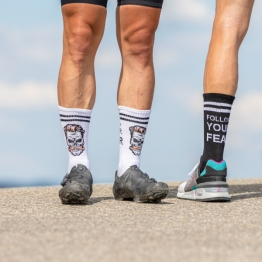 Follow Your Fear - MTB Trail Socks - White - 20 cm