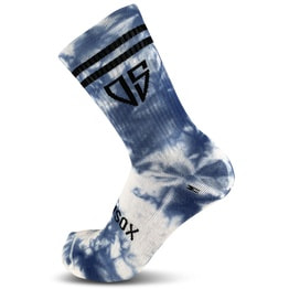 New School - MTB Trail Socken - Tie Dye - Horizon Blue - 20 cm