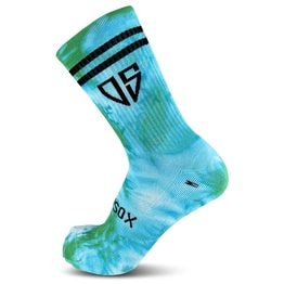New School - MTB Trail Socken - Tie Dye - Persion Green - 20 cm